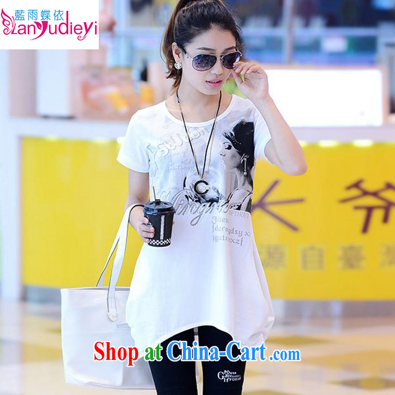 Health concerns women * 2015 spring and summer new, long, short-sleeved T-shirt Han version the code loose T-shirt + 7 pants Two Piece Set with white XL