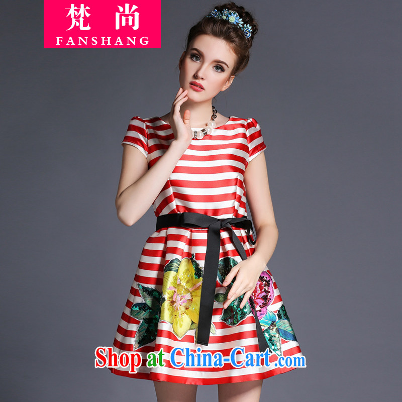 O'Neill could generate 2015 spring and summer new products increased in Europe and America, female thick mm butterfly knot long cultivating graphics thin dresses red XL