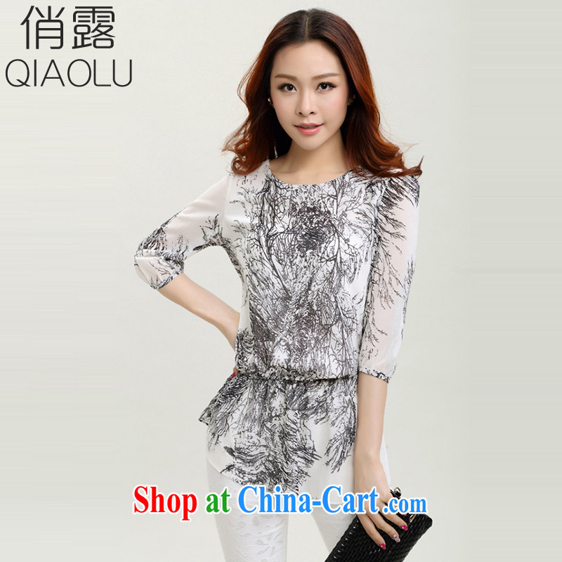 terrace for summer 2015, relaxed the code female, short-sleeved snow woven shirts stamp the code snow woven shirts 251 figure A cuff in XXXXL