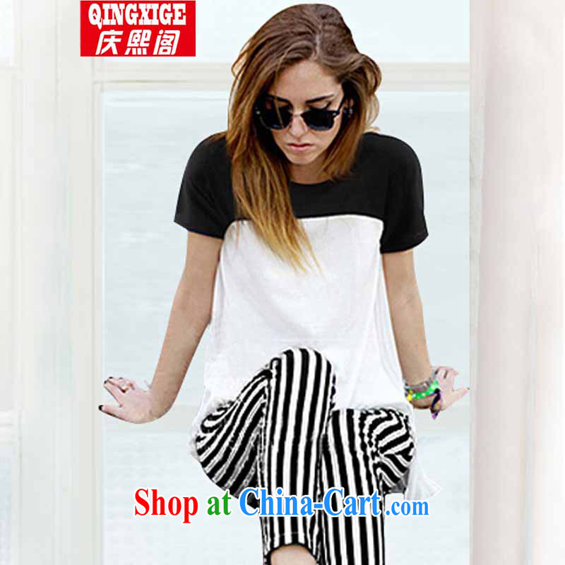 Kyung-hee-ge 2015 in Europe and the Code the Code women thick MM loose video thin cotton T + streaks 9 pants the code sets the color the code XXXXXL
