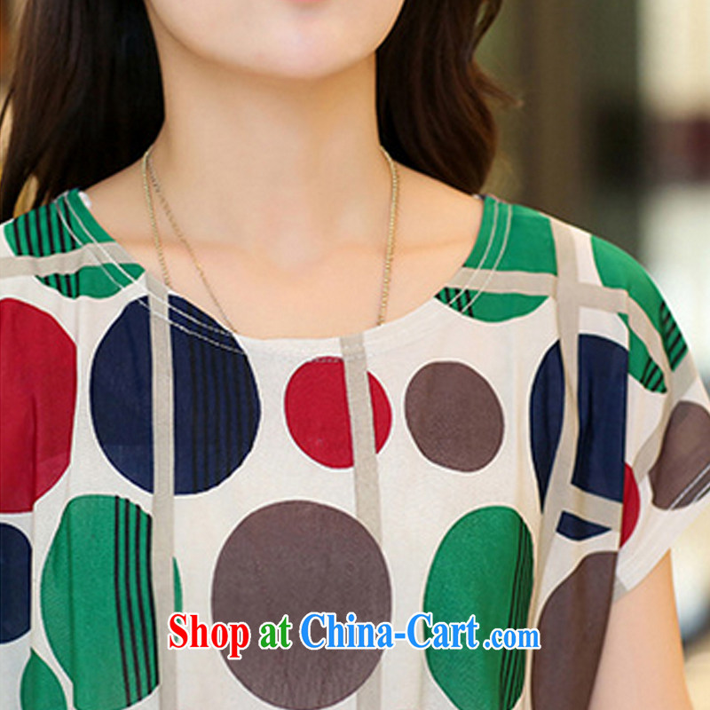 Morning would be 2015 summer new Korea and indeed XL female T shirts T-shirt thick sister 100 ground very casual hit color stamp duty, long T shirt black on white flower 2 XL, morning, and shopping on the Internet