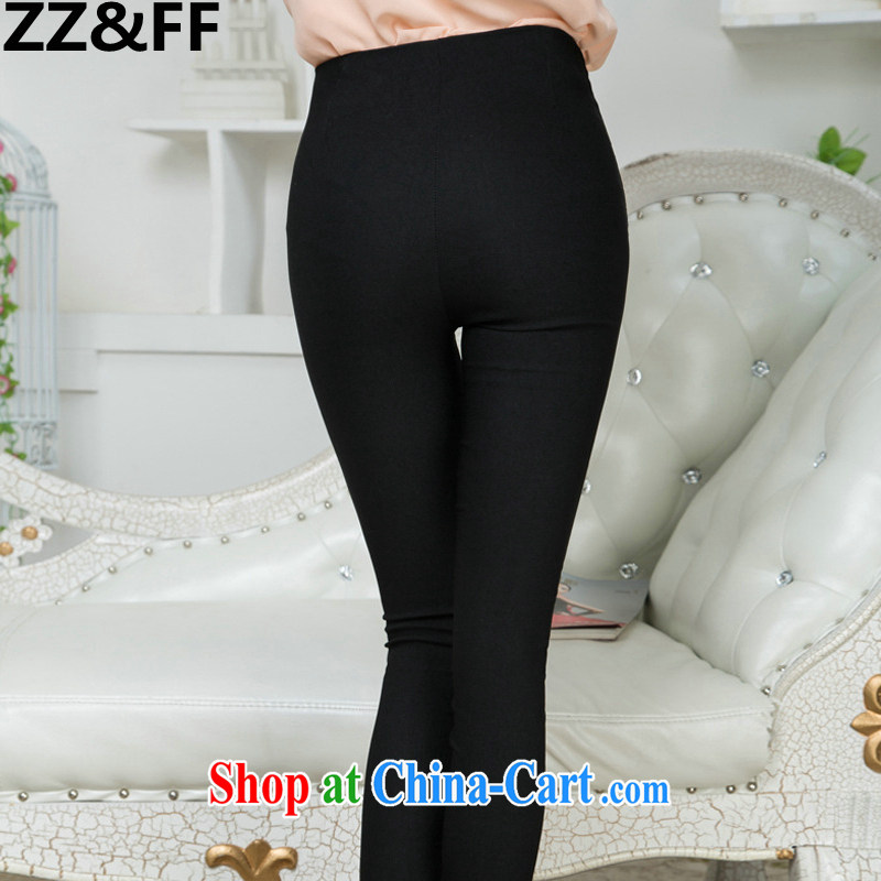 ZZ &FF 2015 spring and summer new paragraph lace trousers XL thick MM spring Beauty Salon female solid black pants XXXL (165 - 200 ) jack, ZZ &FF, shopping on the Internet