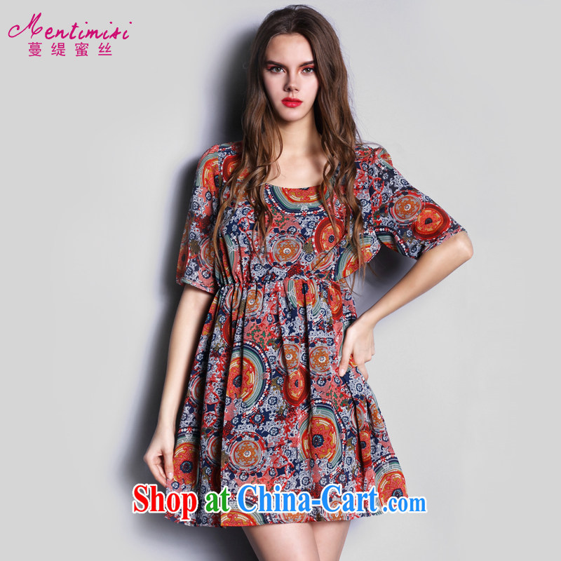 Mephidross economy honey, the European site is the girl with thick MM Summer in Europe and the new 2015 snow woven in stamp duty cuff dress S 2627 photo color XL