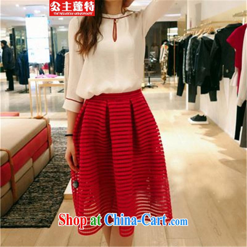 Princess Puntland 20,152 piece dresses dress graphics thin lady 7 Cuff Kit skirt red XL