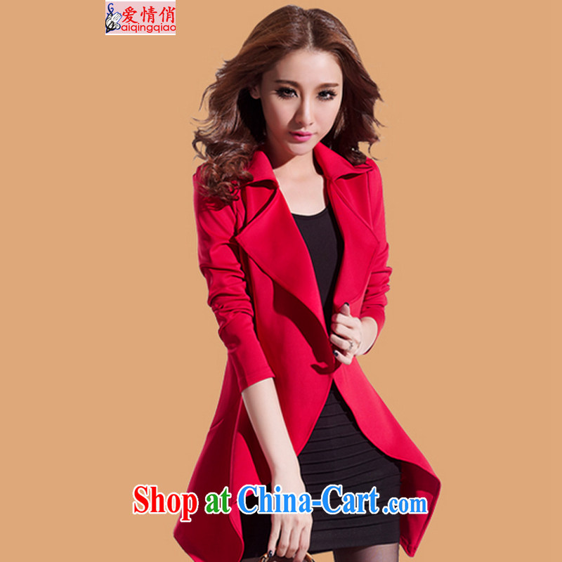 Love to 20,152 Kit spring new Korean dresses thick MM spring jackets graphics thin windbreaker J 8866 red code XXL