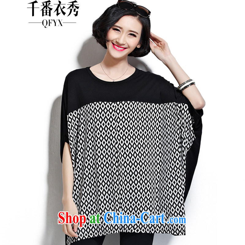 1000 double Yi Su-summer relaxed king size, comfortable and FAT and FAT MM short sleeve shirt T ZM 7155 diamond tread the code are code