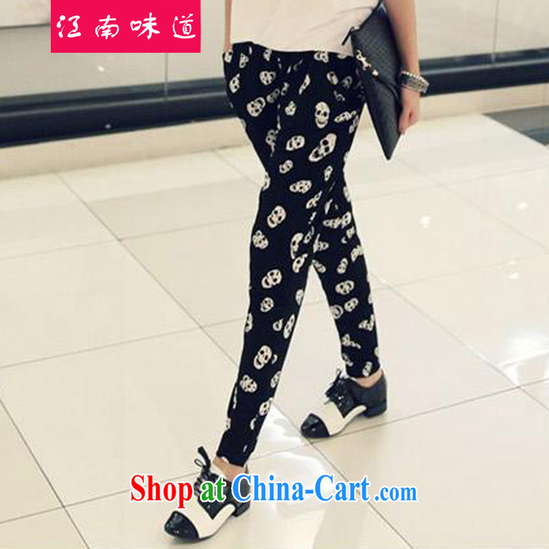 taste in Gangnam-gu, the female Trouser press 2015 summer new FAT, female video thin, loose spring levels cranial and castor pants hot pants 106 black XXL_140 - 165 jack