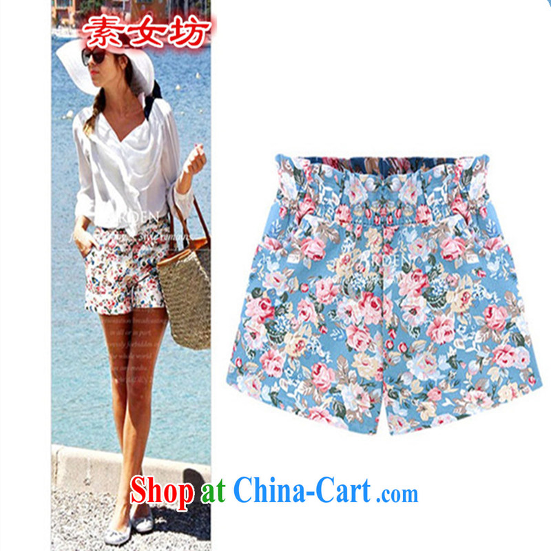Women of 2015 workshop on the code dress shorts hot pants 869 blue XXXXXL