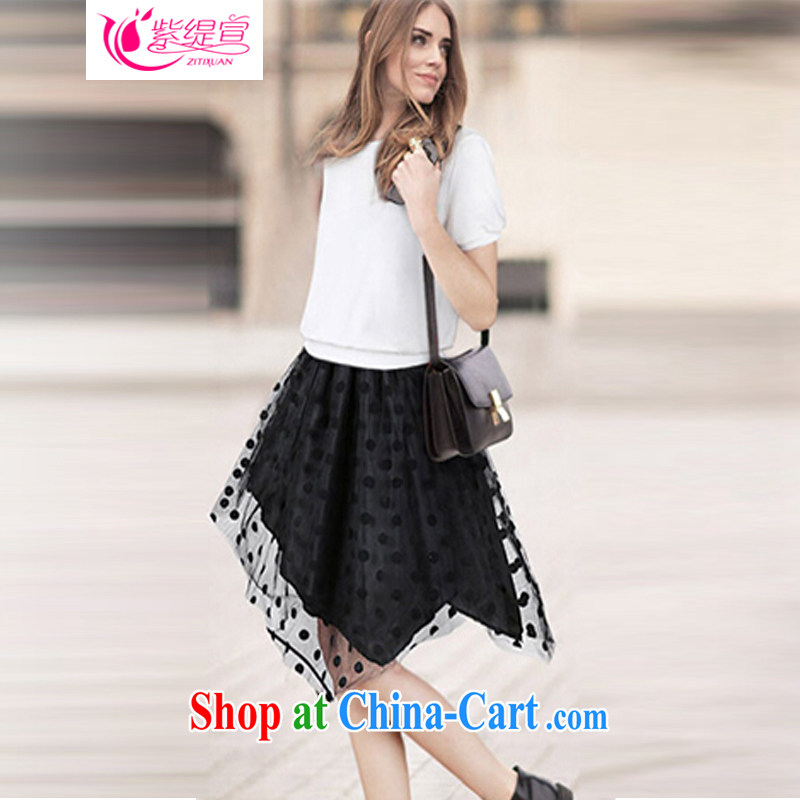 First and foremost economy 2015 declared the United States and Europe, female summer new thick mm two-piece with a short-sleeved T-shirt T-shirt + body skirt 1735 #2 XL 135 - 145 about Jack
