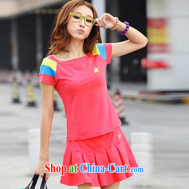 100 Of The 2015 real-time a summer Korean spelling color trendy, young girls who dress casual tennis clothes campaign skirt Kit high-end custom! In the Pre-IPO Share Option Scheme. watermelon red XXL