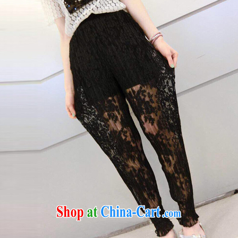 61ac7ee5de8d She concluded her card on her sister summer graphics thin lace fluoroscopy  lace 100 hem pants