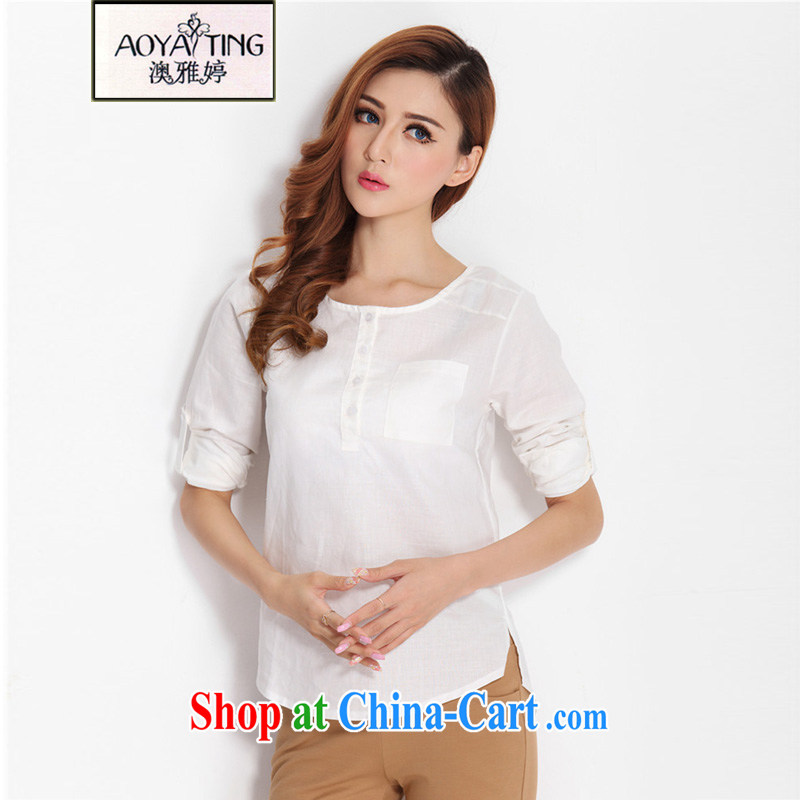 o Ya-ting 2015 summer new and indeed XL women mm thick cotton Ma T-shirt T shirt Casual Shirt female white 3 XL recommends that you 160 - 180 jack