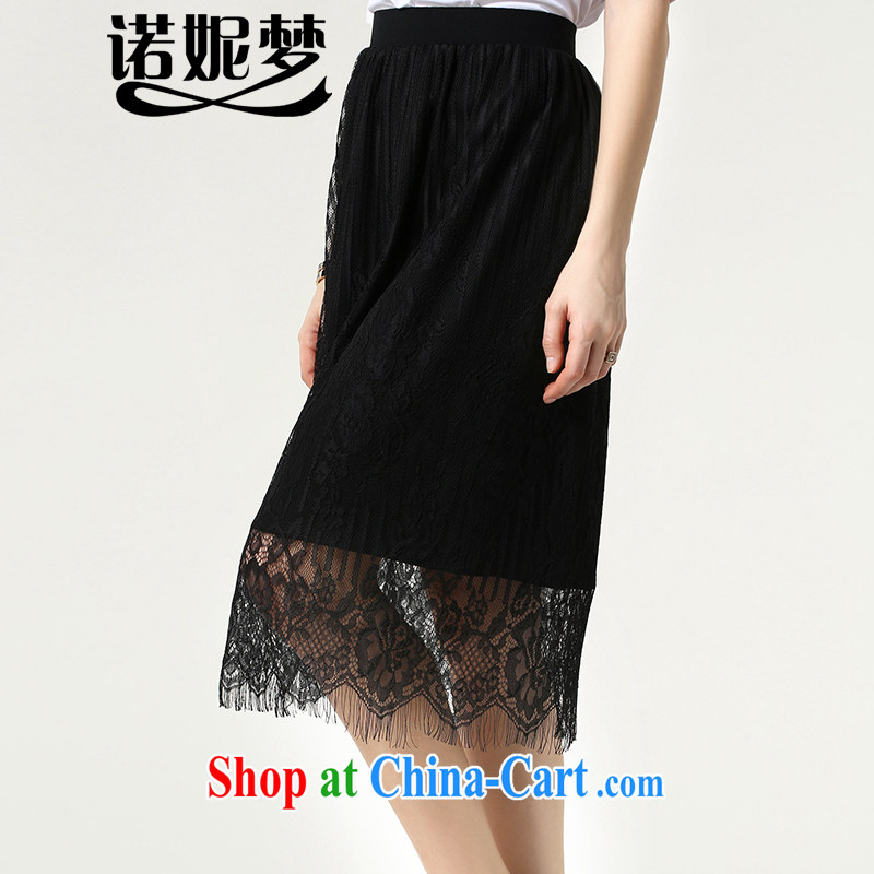 Connie was the European and American dream lace body skirts and indeed increase, female 200 Jack 2015 summer new thick mm stylish 100 hem package and s 1512 black XXXXXL