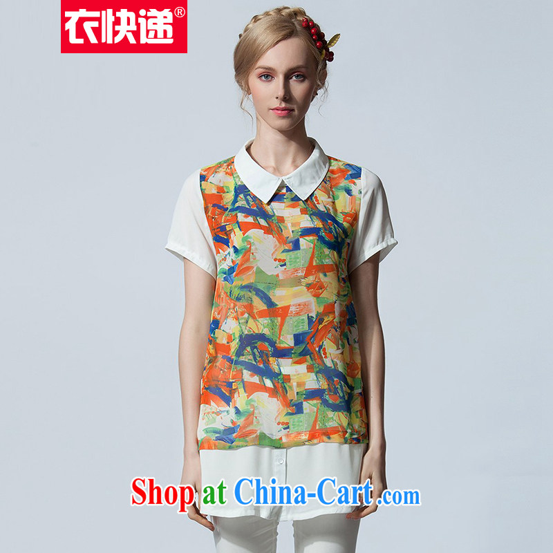 206502c1bd0e Yi express summer female short-sleeved shirt