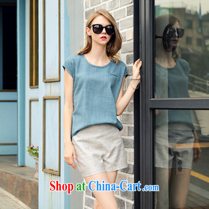 Image of 2015 Connie new linen Leisure package summer fashion in Europe and high-waist graphics thin shorts the Code women 2922 photo color M