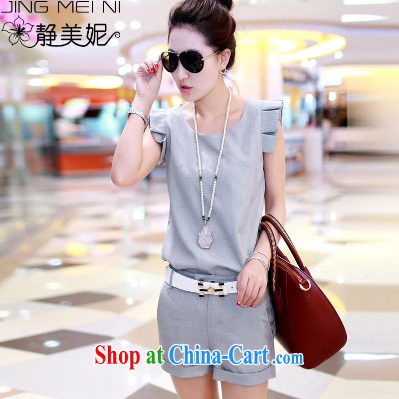 The Minnie 2015 summer new Korean fashion small fragrant wind Leisure package female J 8915 gray XL