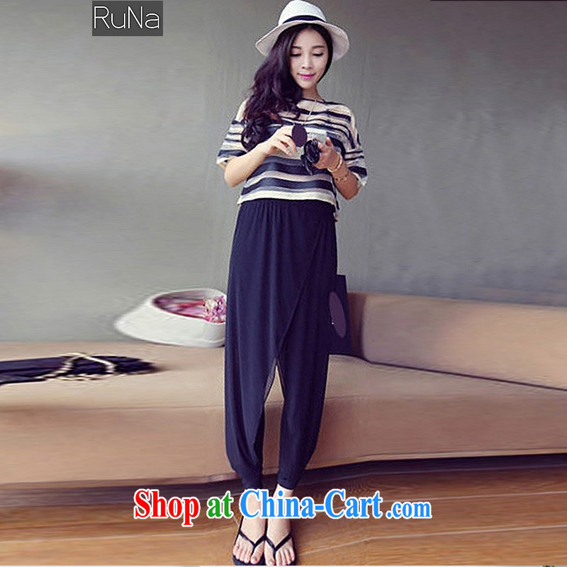 RN summer 2015 new Korean version of the greater Code women mm thick streaks T pension snow 9 woven pants Kit very casual simple and stylish package picture color XXXL - 145 - 165 jack