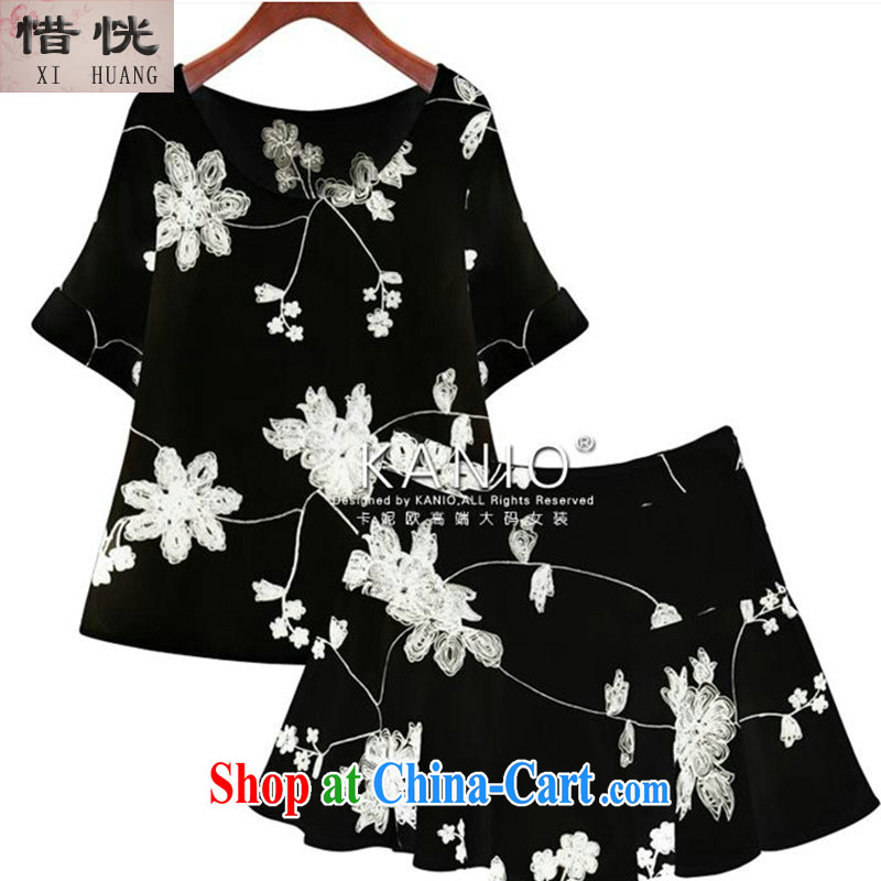 Unfortunately some 2015 summer new Europe and the fat increase code 200 Jack mm thick beauty graphics thin shorts dresses S 2597 #XWH black 5 XL