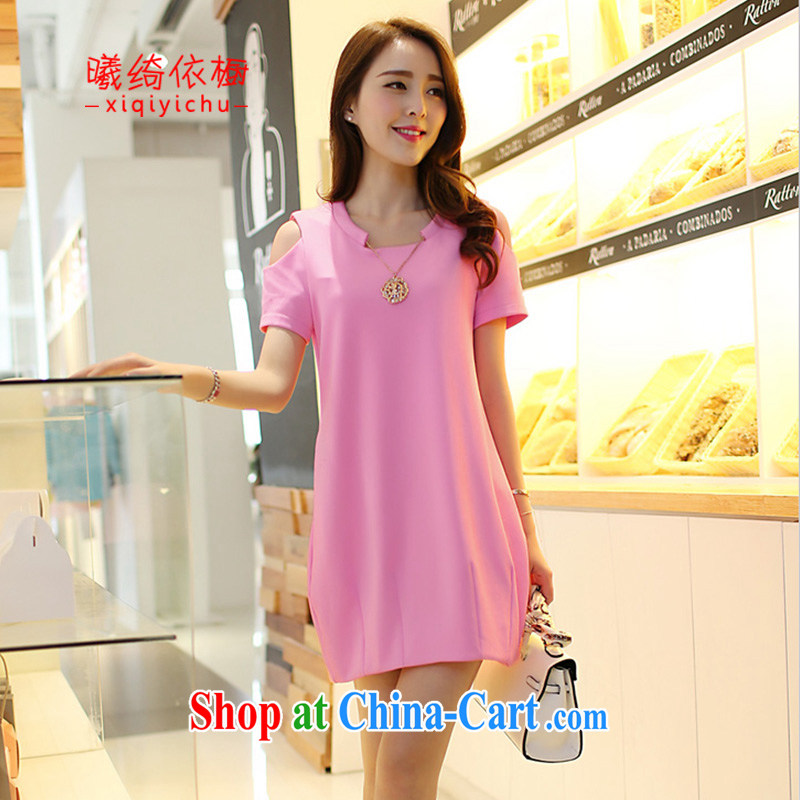 hostels in accordance with cross-sectoral cupboard 2015 Korean version of the new, summer is the girls decorated in thick sister dress 1829 _pink XXXL .