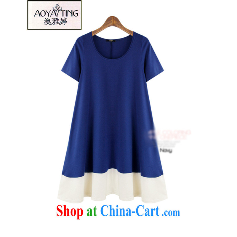 o Ya-ting 2015 New, and indeed increase, female fat MM summer graphics thin A field dresses, generation, T-shirt girls blue 5 XL recommends that you 175 - 200 jack
