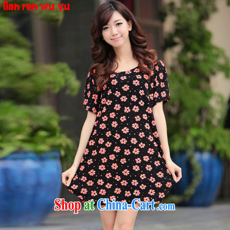 LRWY summer 2015 the fertilizer and 100 on board the code stamp short-sleeved dress ultra-relaxed, older fat people graphics thin dresses mother load picture color codes (for 90 jack - 160 catties MM)
