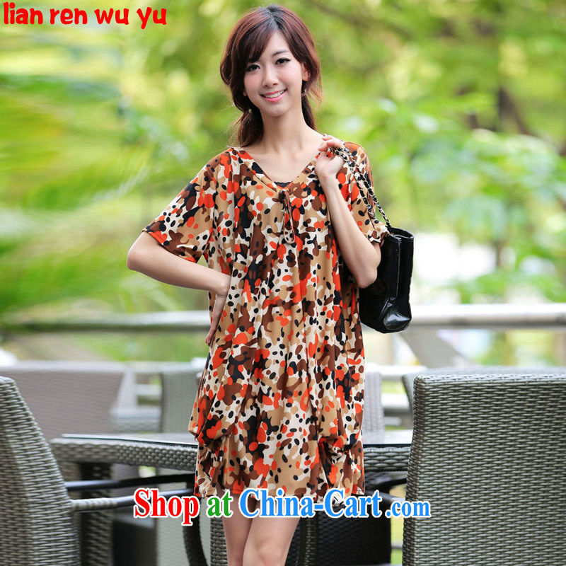LRWY summer 2015 is indeed the Borneo with elegant small sexy retractable V collar wave point floral skirt thick MM 200 jack, the code dress maternity dress picture color codes - For 100 jack - 200 catties MM