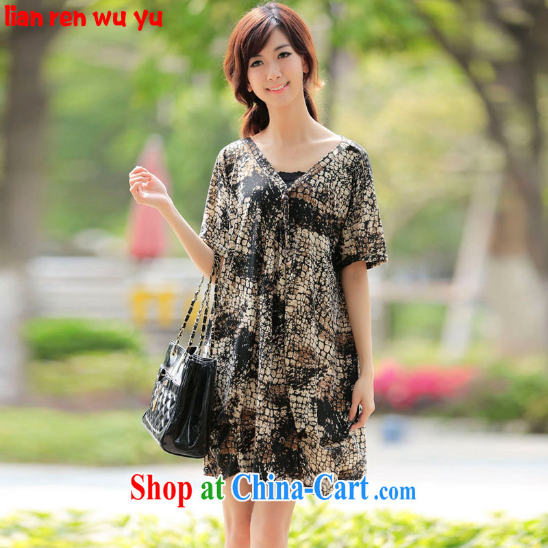 LRWY summer 2015 is indeed the greater Code V collar loose short-sleeved dresses 200 Jack the fertilizer, video thin, elderly with short skirts is indeed loaded the Borneo picture color codes - For 100 jack - 200 catties MM
