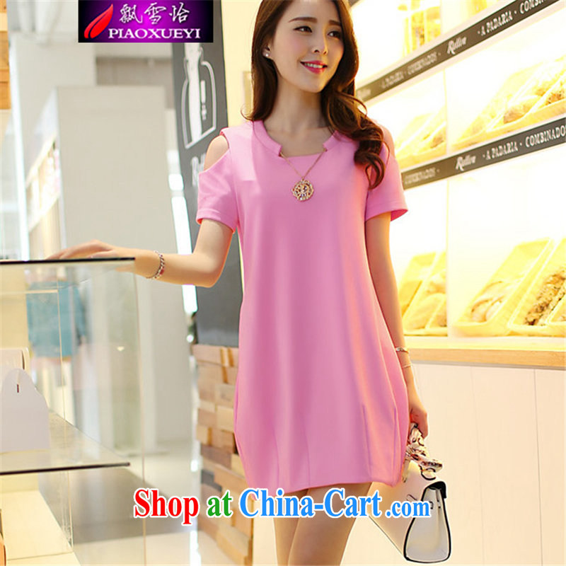 Snow Yee 2015 summer new thick mm and indeed increase Korean video thin beauty thick sister dresses girls pink L