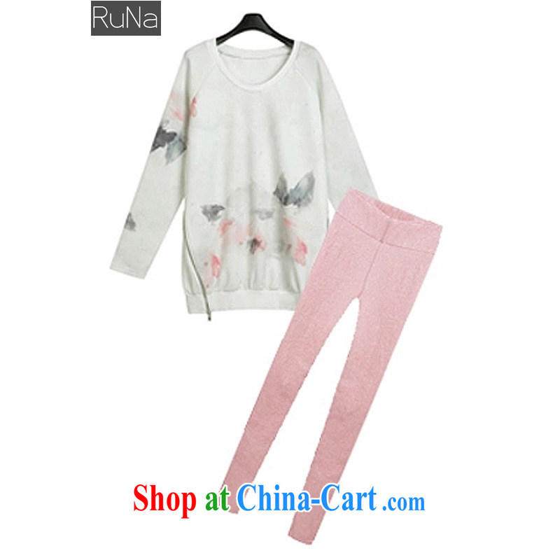 RN Spring and Autumn 2015 new package the code thick 200 Jack female long-sleeved Europe the larger graphics thin stamp 2014 European site picture color XXXXXL - 175 - 200 jack
