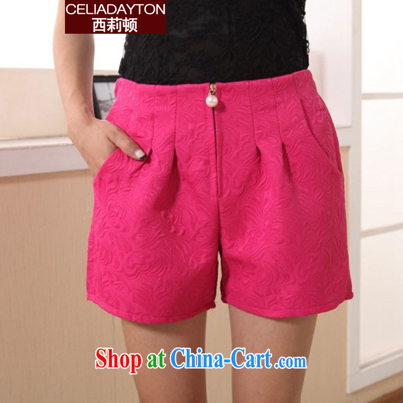 The lily is the girl pants 2015 summer new mm thick and fat and stylish Stretch video thin shorts girl hot pants 200 Jack thick sister leisure shorts red XXXL