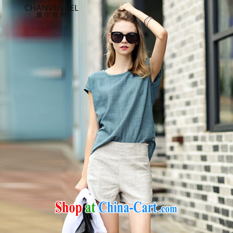Sharma, D, the European site Big style in a new, linen and Leisure package summer fashion in Europe and high waist graphics thin shorts the Code women 1555 photo color S