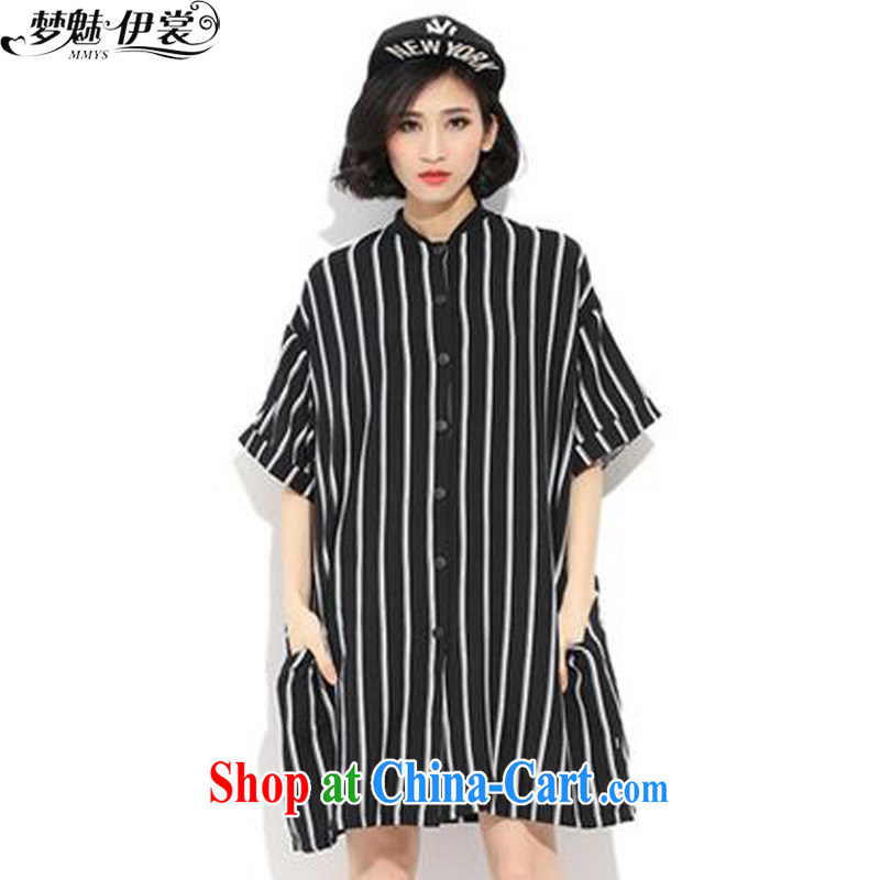Director of the Advisory Committee 2015 summer spring new loose video thin and thick XL women mm thick, long shirt shirt jacket black loose all code