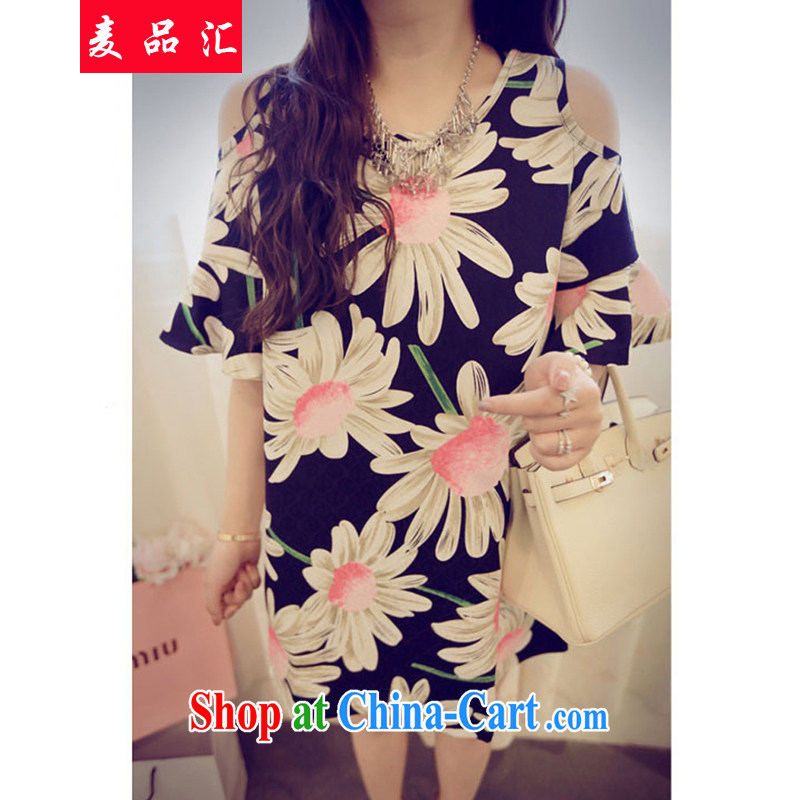 Mr MAK, exchange the XL women 2015 summer edition won on 200 mm jack loose video thin dresses floral T-shirt snow woven shirts 0823 suit 5 XL