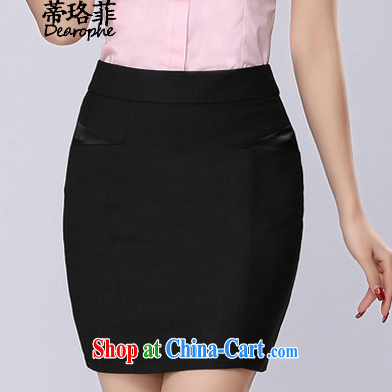 Mr. NAK , 2015 summer new female Korean attire short-sleeve female Workwear shirt women 0521 black skirt 3 XL