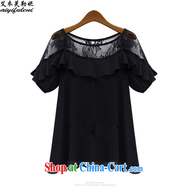 The coat can be Connie, summer 2015 new loose the code the obesity MM T casual shirts women's clothing snow woven shirts T-shirt 200 jack may 9016 wearing black XXXXXL