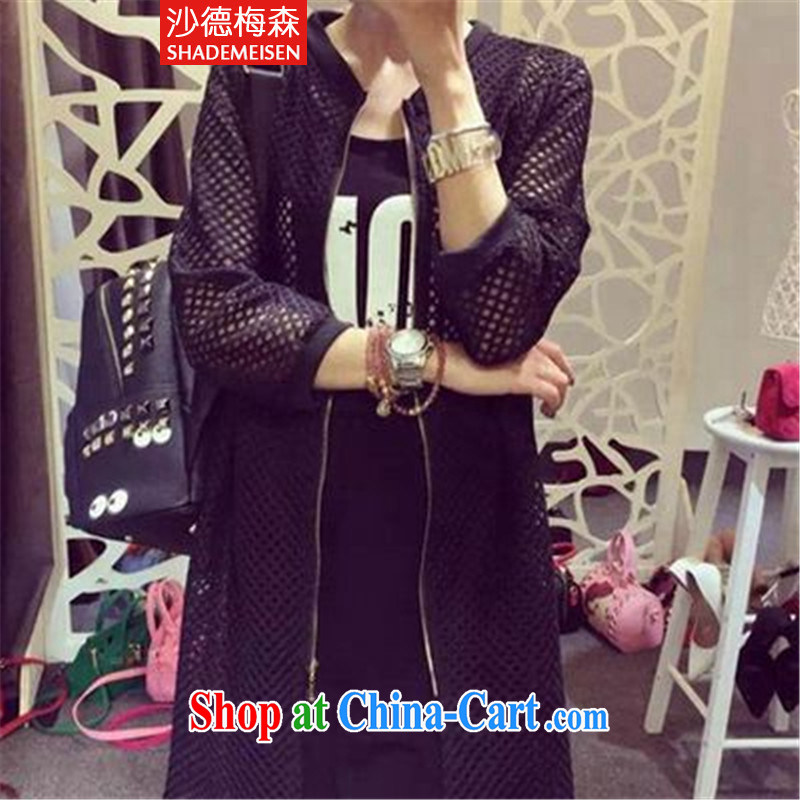 GAZA, Mason in 2015 long grid-yi-fluoro long coat female black are code