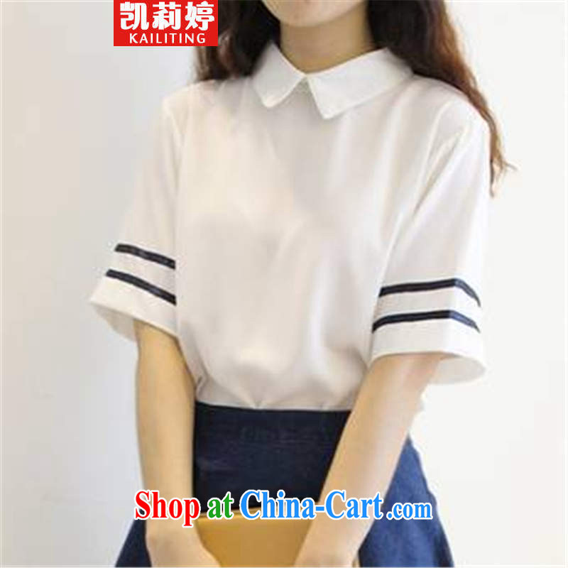 Kai Li Ting 2015 Navy Feng Shui the Service uniforms Kit female students with the T-shirt skirt two piece summer girl picture color S