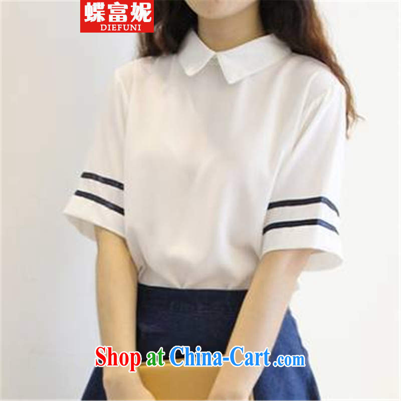 The rich and butterflies Connie 2015 Navy Feng Shui the Service uniforms Kit female students with T-shirt skirt two piece summer girl picture color L