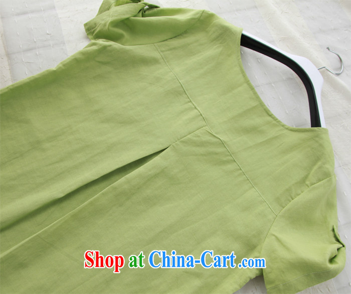 2015 Yau Ma Tei cotton Dress Shirt linen blouses, women, fearless young man Yau Ma Tei literature and the shirt 9905 green code L pictures, price, brand platters! Elections are good character, the national distribution, so why buy now enjoy more preferential! Health