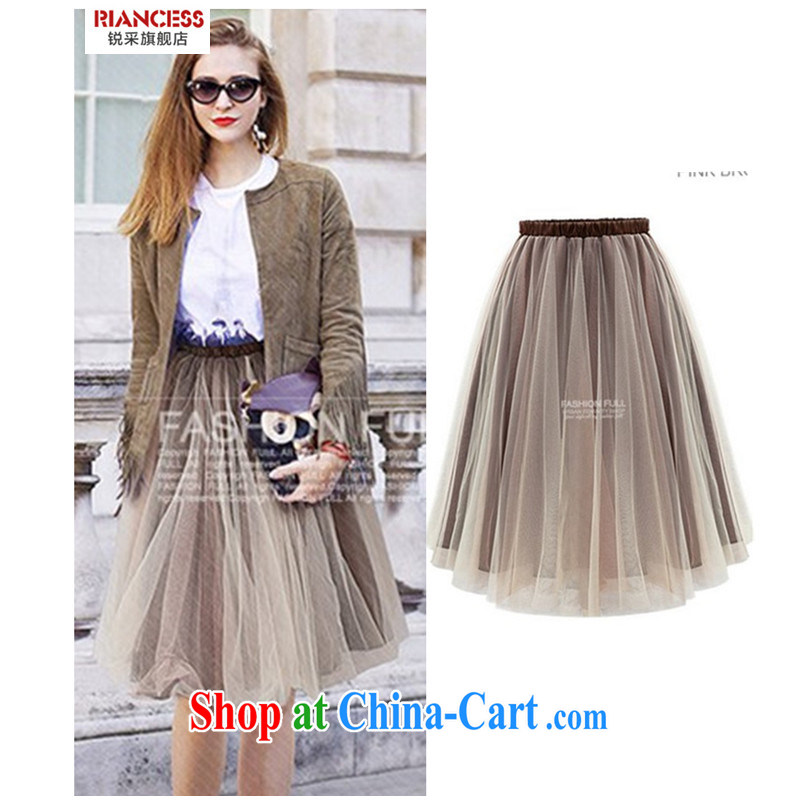 With vPro the Korean edition spring and summer new 100 on board the Code women with a solid color solid thick mm long skirt high waist shaggy skirts dress skirt body fat, female video thin, card the color XXXXXL