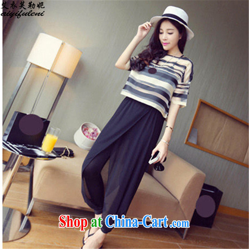 The coat can be, Connie 2015 summer loose large graphics thin leisure T shirt T-shirt Dress Pants vest 3 piece Women's clothes 200 jack may 9021 wearing black 3 XL
