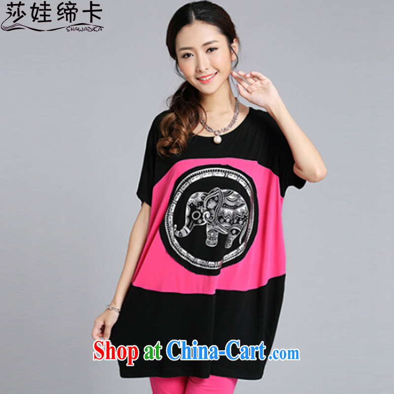 She concluded her card College winds, female T-shirts Korean small as stamp wood, loose T shirt short-sleeved T-shirt bat students t-shirt by red are code
