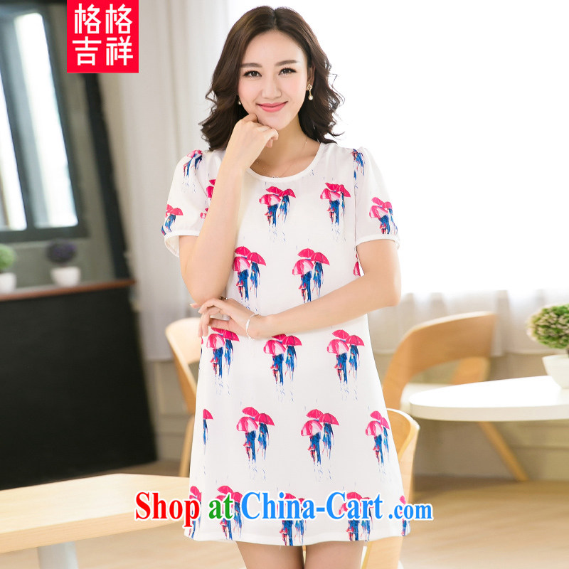 Good luck cracking the Code women mm thick beauty summer 2015 new the fat and loose video thin stylish stamp snow woven dresses X 5212 white 3XL