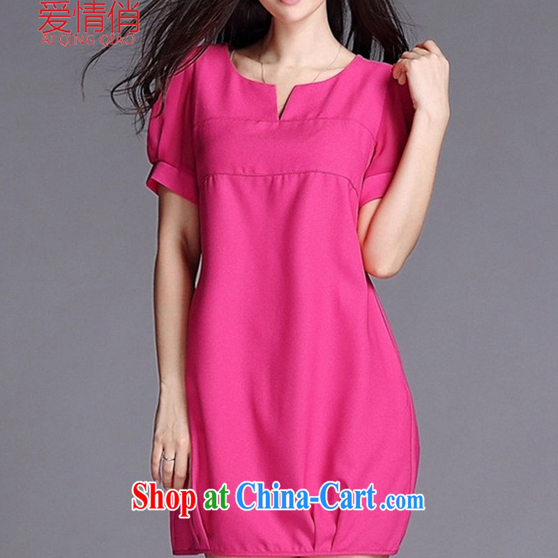 . love for larger female thick MM Spring Summer dress girls won and indeed XL snow woven dresses J 9869 the big red code XXXL 165 - 180 jack