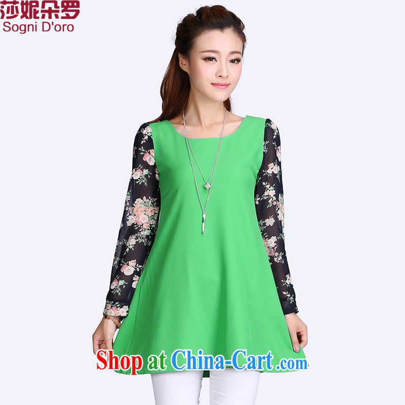 Elizabeth Anne flower, XL female T pension expertise, Video thin, snow-woven shirts relaxed thick sister summer 8701 green 6 XL
