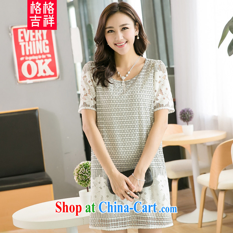 Huan Zhu Ge Ge Ge 2015 and indeed increase, female summer new emphasis on cultivating mm video thin Web Uganda empty short-sleeve dress 5229 picture color 3XL (recommendations 165 - 180 jack)