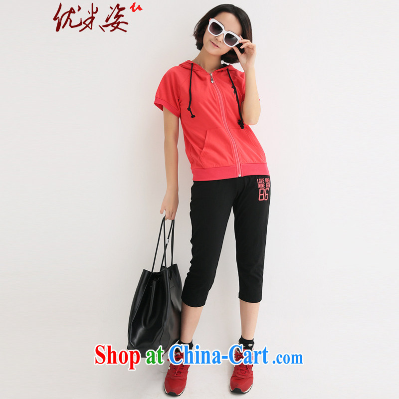 Optimize m Beauty package mail delivery and indeed XL women 2015 7 summer pants with T-shirt stamp the Code women mm thick Summer Package red 4 XL for 175 - 200 jack
