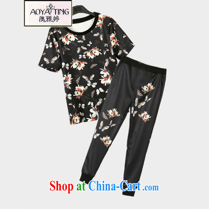 o Ya-ting 2015 new, indeed the XL female summer thick mm short-sleeve T-shirt + pants sport and leisure package suit two-piece 5 XL recommends that you 175 - 200 jack