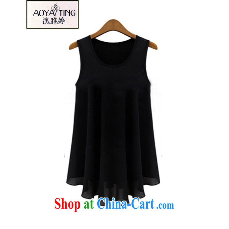 o Ya-ting 2015 New, and indeed increase, female summer thick, solid vest skirt video thin ice woven shirts summer black 5 XL recommends that you 175 - 200 jack