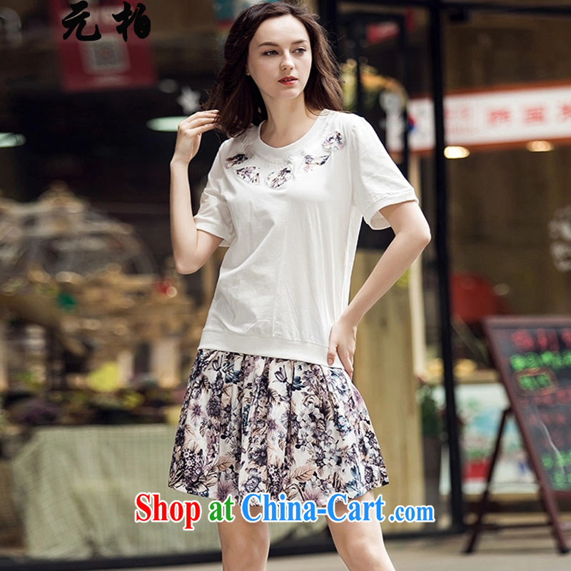Yuan Bo summer new two-piece dresses in Europe and America, the female floral skirt Set Map Color 777 5 XL 180 - 190 Jack left and right